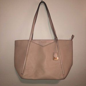 NWT Michael Kors Whitney Pink Large Leather tote